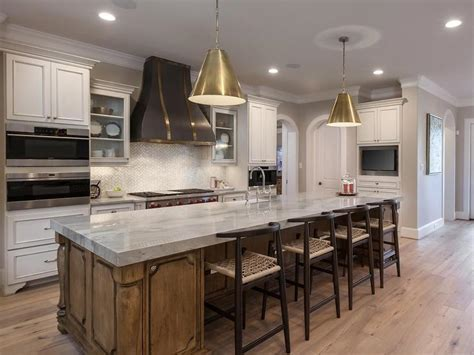 Gray and Gold Kitchen Hood   Transitional   Kitchen