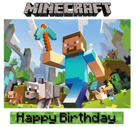 minecraft birthday party ideas birthday cake
