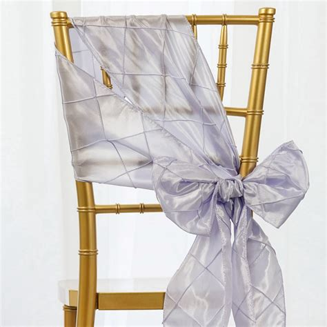 pintuck chair sashes bows ties banquet wedding reception