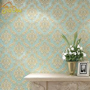 Online Buy Wholesale blue damask wallpaper from China blue ...