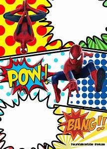 spiderman, invitation, template, , u2013, invitation, printing