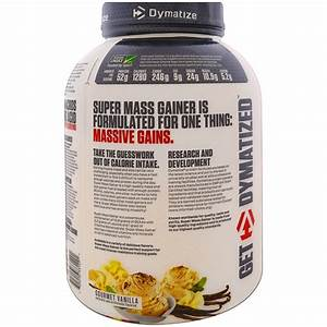 Dymatize Nutrition  Super Mass Gainer  Gourmet Vanilla  6 Lbs  2 7 Kg