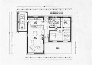 plan maison africaine gratuit With maison de 100m2 plan 15 modale de construction traditionnelle de 90m2 de plain
