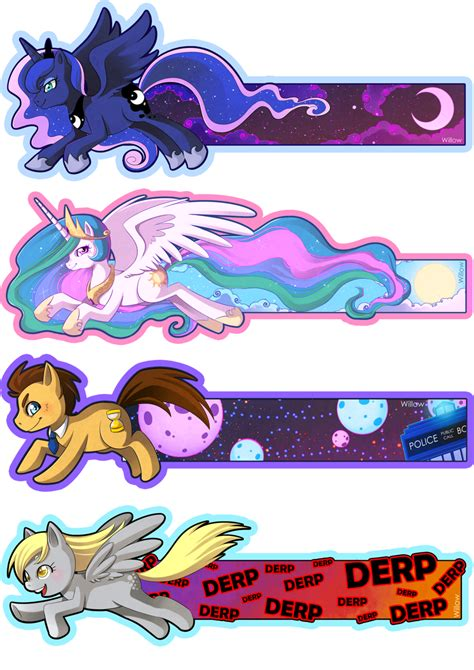 Mlp Bookmarks By Willow San On Deviantart