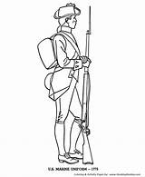Coloring Revolutionary War Soldier British Forces Armed Template Sketch Printablecolouringpages Larger Credit Popular sketch template