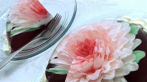 jelly lover    gelatine flower cakes