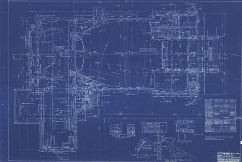 blue prints of houses blueprints