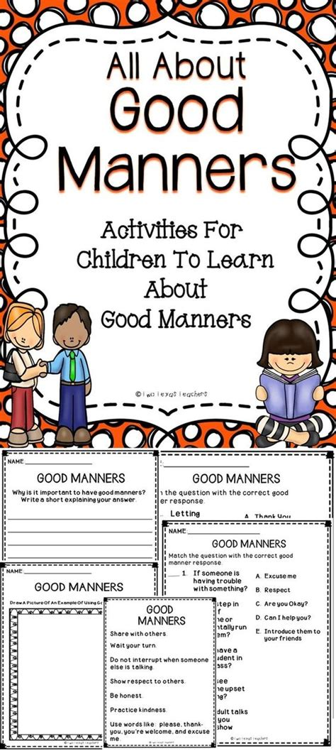 fun activities that teach good manners how does