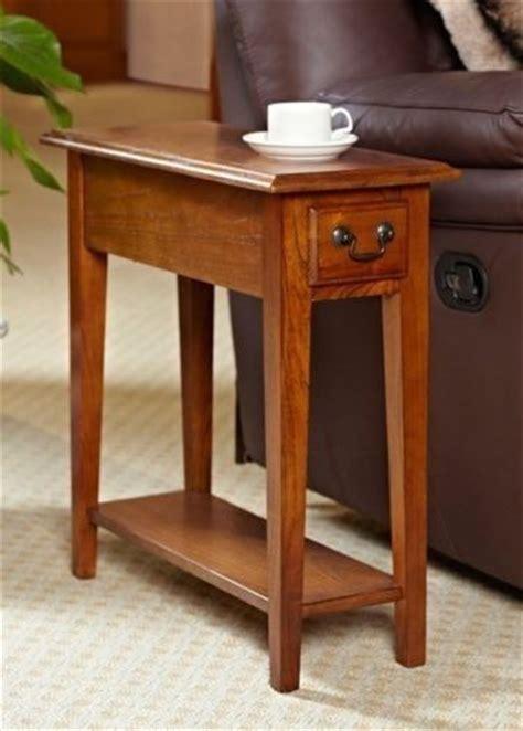 oak mission shaker style antique vintage home side  table shelf drawer decor diy  tables