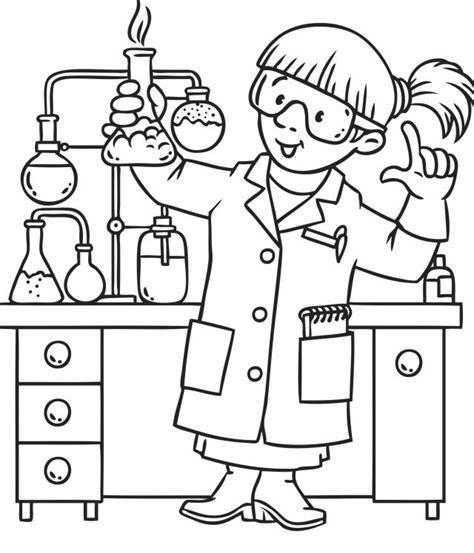 coloriage chimiste pour les enfants