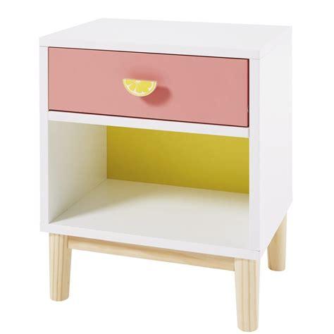 Comodino Per Bambini Comodino Per Bambino Bianco Rosa E Giallo Tropicool