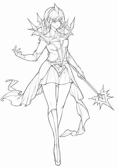 Lux League Legends Elementalist Zheng Steve Drawing