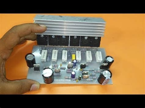 How Make Transistor Amplifier Circuit Board Using