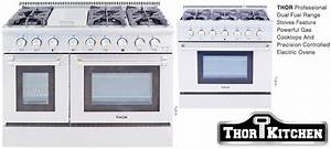 Dual Fuel Professional Ranges By Thor Kitchen Stoves