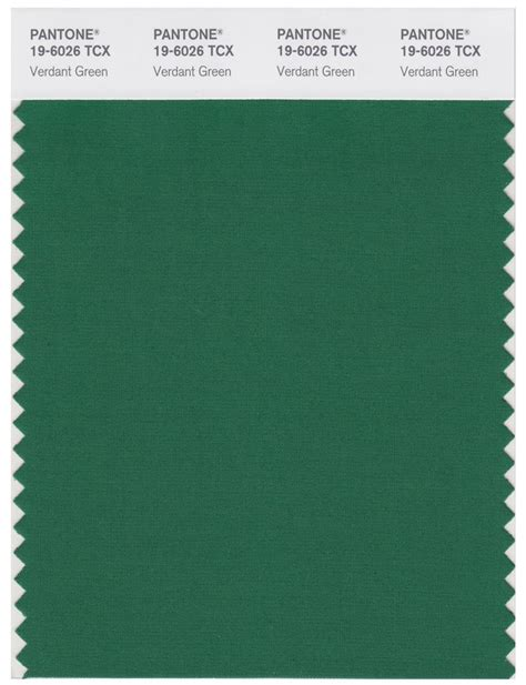 pantone smart   tcx color swatch card verdant