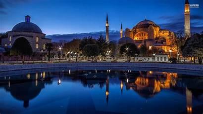 Istanbul Wallpapers Turkey Evening Desktop Background Lights