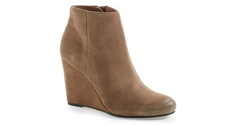 Dolce Vita 'garim' Wedge Bootie In Brown (taupe Suede)