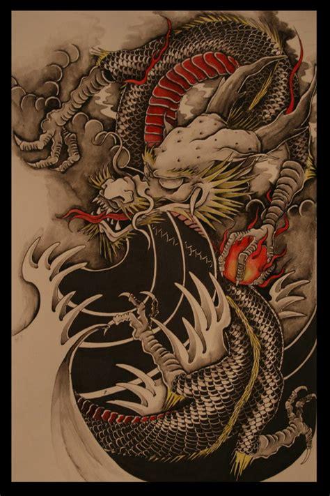 chinese dragon colour version  brokenpuppet  deviantart