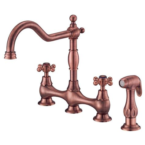 copper faucet kitchen danze opulence deck mount 2 handle standard kitchen faucet