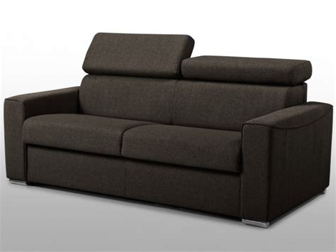 canap 233 3 places convertible express en tissu sultan couchage quotidien chocolat ou gris