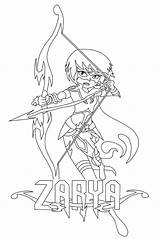 Coloring Archer Pages Mysticons Zarya Getcolorings Printable Getdrawings sketch template
