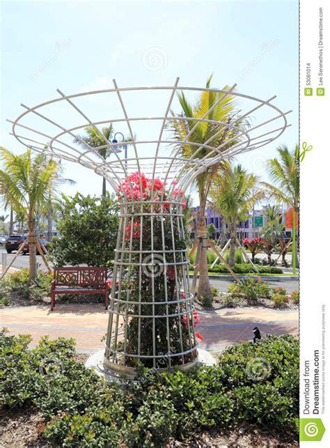 Large Round Flower Trellis Editorial Stock Image Image Of