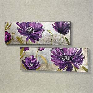 Purple, Allure, Floral, Canvas, Wall, Art, Set