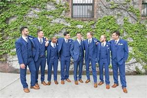 Groomsmen In Blue Suits Elizabeth Anne Designs The