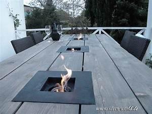 gartenmobel gartentich tisch mit feuerstelle With feuerstelle garten mit balkon lampen solar