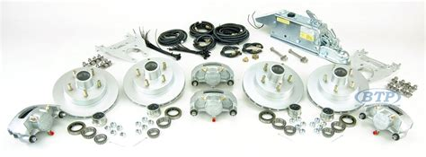 Boat Trailer Axle With Disc Brakes by Boat Trailer Kodiak Disc Brake Kit Tandem Axle Assembly
