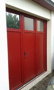 porte de garage battante et portillon integre ouverture a With porte de garage enroulable avec porte fenetre pvc coulissante