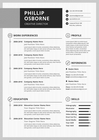 Step By Step Resume Template by Chronological Resume Templates Templicate
