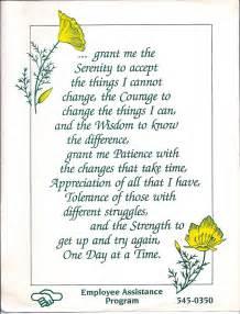 Strength Serenity Prayer