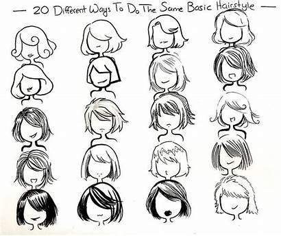 Draw Ways Hair Hairstyles Hairstyle Basic Drawing
