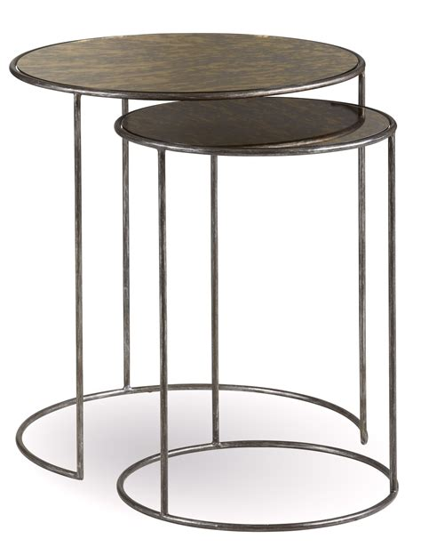 antique glass table ls williamsburg antique pot metal nesting tables with glass top