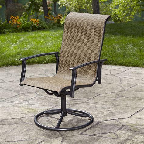 essential garden fulton single swivel chair outdoor