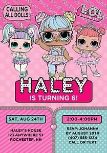 Graduation Party Invite Lol Birthday Party Invitations Doll Kids Birthday