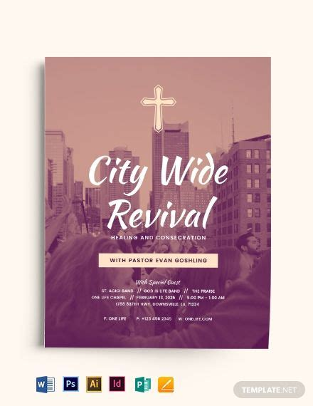 city wide revival church flyer en