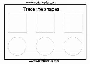 shape tracing 1 worksheet free printable worksheets With shape tracing templates