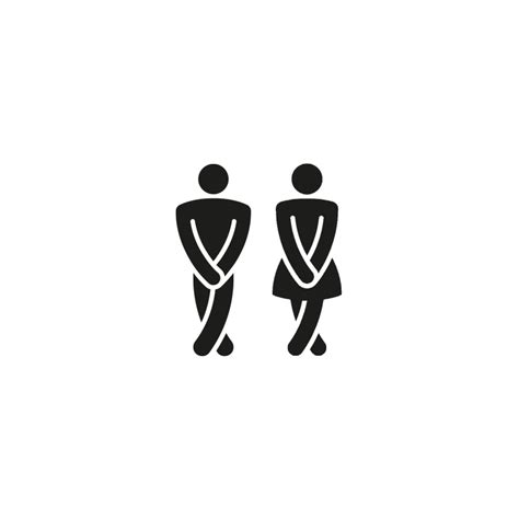pin sticker wc on