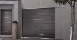 porte de garage sectionnelle sur mesure solabaie With porte de garage enroulable et porte interieur gris anthracite