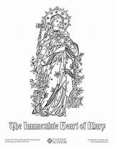 Coloring Catholic Sheets Drawing Mary Heart Drawn Immaculate Sacred Saints Hearts Catholicviral Books Printable Adult Holy Drawings Children Feast Sense sketch template