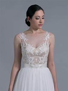 Bridal bolero illusion tulle lace wj024 for Wedding dress bolero jacket