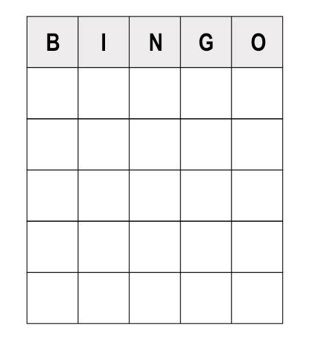 Bingo Template Read These Numerous Sle Questions To Play Human Bingo
