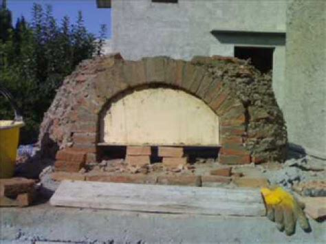 forno a legna cupola costruzione forno a legna brick wood fired oven parte