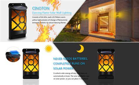 Amazon.com : Cinoton Solar Lights, Path Dancing Flame