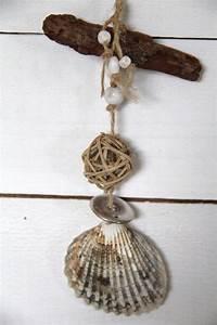 Suspension Bois Flotté : suspension pour d co en coquillage et bois flott driftwood shell pinterest d co ~ Teatrodelosmanantiales.com Idées de Décoration