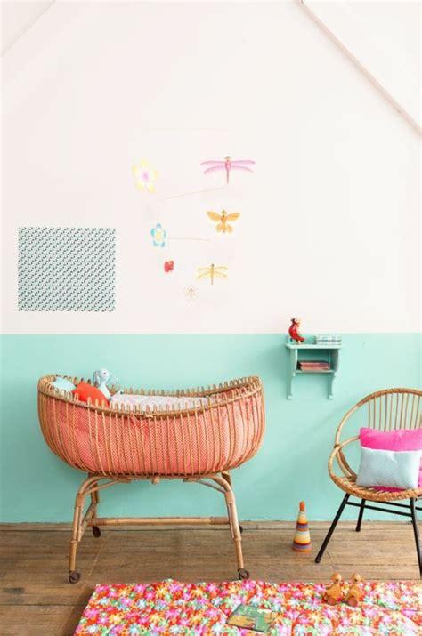 couleur mur chambre bébé fille nos astuces en photos pour peindre une pièce en deux couleurs