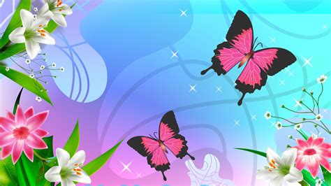 purple carnations butterflies and flowers wallpapers