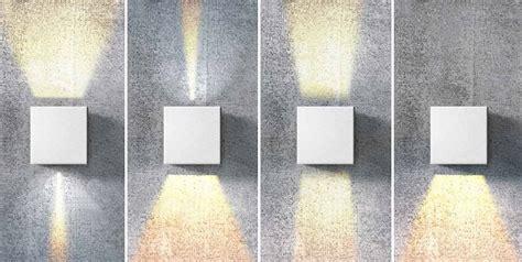 square   wall light adjustable beam